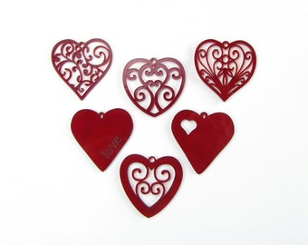 Wedding Decorations Red Hearts with Gift Box