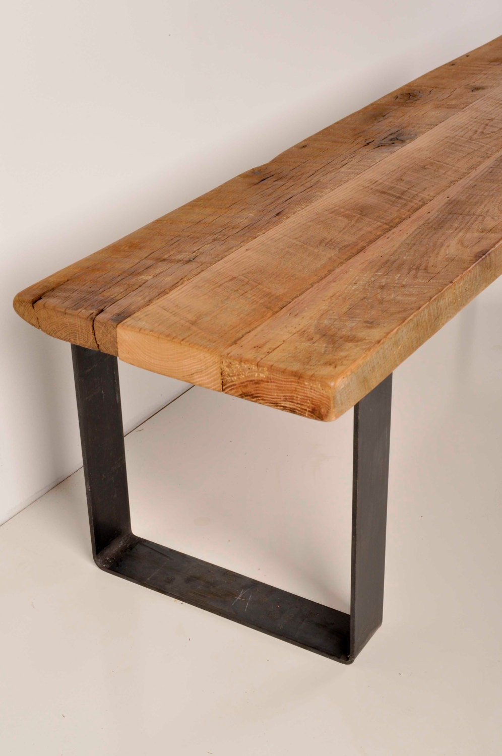 Reclaimed Barn Wood And Industrial Metal Bench By Cr71 On Etsy