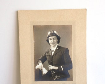 Vintage Harris and Ewing Photo of Woman Military Soldier