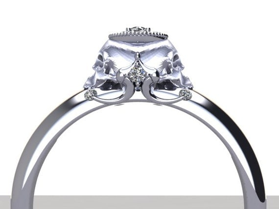 skull wedding rings over $1000