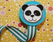 Mr. Panda Pacifier Clip