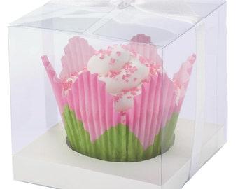 Cupcake Window Box-Cupcake Boxes -1 Cavity-Cupcake Box 20/Pkg