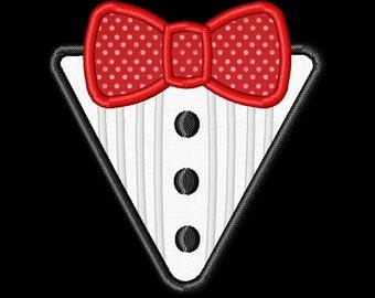 Tux Bow Tie Boys Applique Machine Embroidery Design Tuxedo INSTANT DOWNLOAD