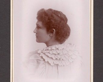 Back View Cabinet Card of an Attractive Young Woman