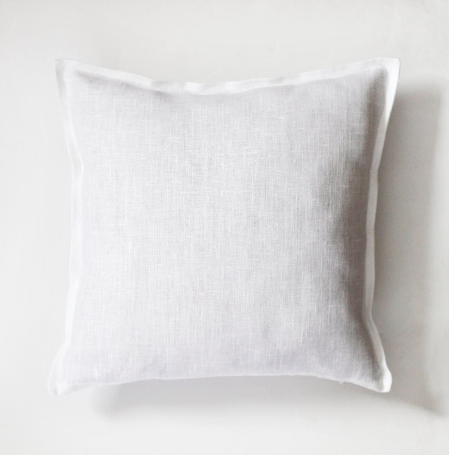 Decorative Linen Pillows : White euro sham ? natural fabric pillow cover ? decorative pillows ? linen pillow case ? 26?26 ...