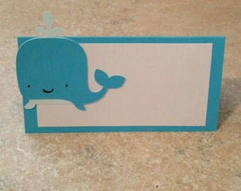 Whale Place Cards