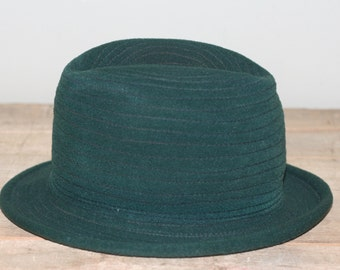 vintage forest green fedora