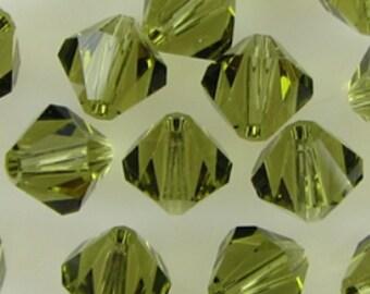 Genuine SWAROVSKI KHAKI 5mm BICONE 5301 Austrian Crystal Beads