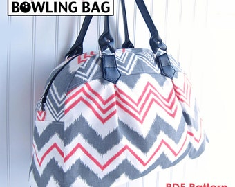 The Boyd St. Bowling Bag PDF Sewing Purse Pattern - Sew a Handmade Purse, Handbag, Tote