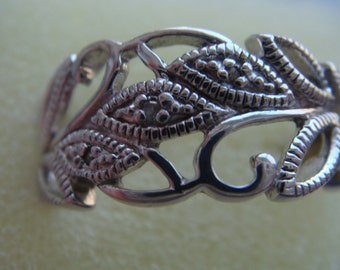 Silver Ring with 3 diamonds