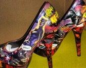 CatWoman Custom Comic Heels