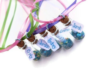 Mermaid Party Invitation Necklaces, 5, Message in a bottle