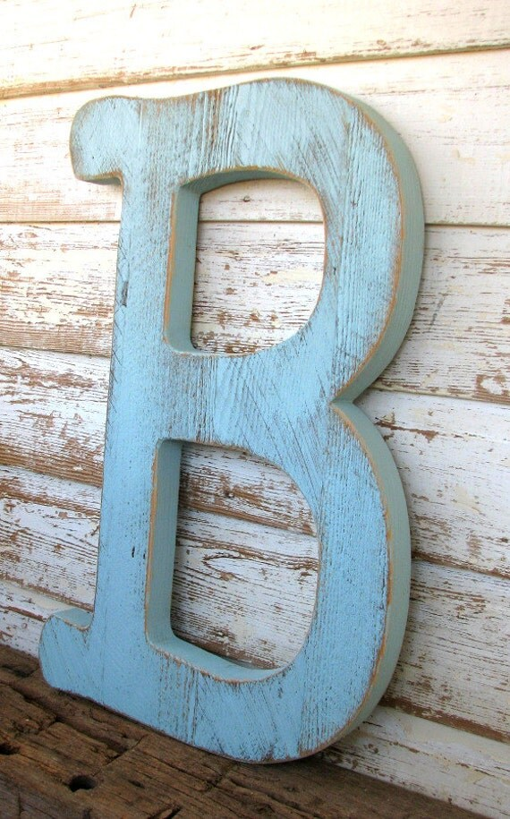 Items similar to big barn wood letter b sign wall for Big wooden letter b