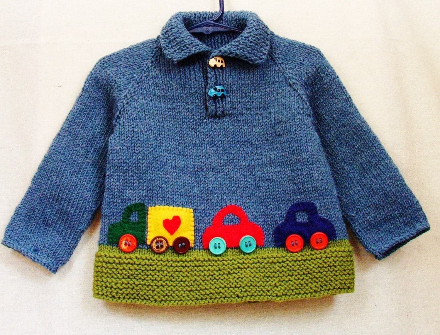 baby boy sweater 12 to 18 month size wool pullover with. Black Bedroom Furniture Sets. Home Design Ideas