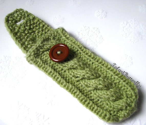 Pax 2 Vaporizer Case, Pax Holder, Cell Cozy, Mobile phone iPod cover, custom order hand knit in Honeydew / Light Green or any other color