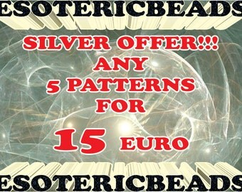 Beading Patterns Sale - Any 5 patterns for only 15 euro