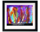 11 x 8.5 Live Music Concert Lightshow Painting Art Print, Signed & Numbered