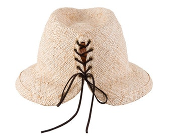 Summer Straw Fedora Hat , Demian hat