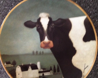 Cow country Franklin Mint collectible plate