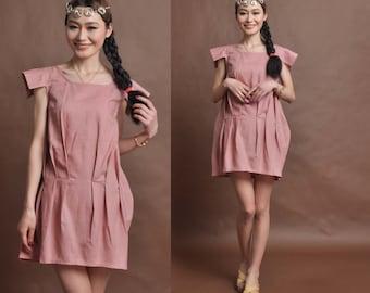 linen maxi dress-----lantern dress bud dress irregular dress mini dress