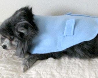 Samll Dog Coat, Dog Coat, Fleece Dog Coat, Made to Order, Teacup Dog Coat, Toy Dog Coat, Styled Like a Man;s Overcoat