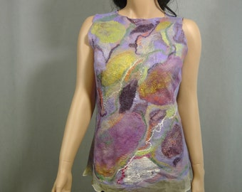 Nuno felted blouse top  Gift for Her