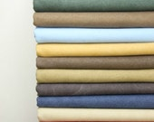 Solid Canvas Cotton Fabric - Vintage Style Pre washed Heavy Weight Sofa Chair Upholstery Fabric- 1/2 yard