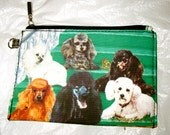 POODLES  --  Zippered Pouch with the same beautiful, full color artwork on both sides