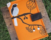 Kindle Case - Kindle Cover - Ebook Reader - Kobo - Nook -  iPad -Tablet - Padded - Birds - Cotton - Felt