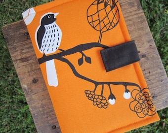 Kindle Case - Kindle Cover - Ebook Reader - Kobo - Nook -  iPad -Tablet - Padded - Birds - Cotton - Felt