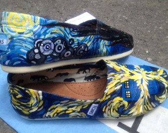 Dr. Who Van Gogh & Starry Night shoes