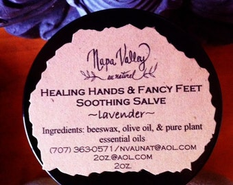 Healing Hands & Fancy Feet Soothing Salve - Lavender (in 2oz. glass jar)