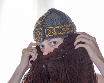 Crochet Dwarf Beard Hat Pattern : TheKnottyGeek on Etsy