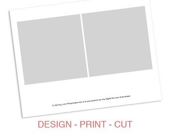 Instant Download: Party Printable Template - DIY 5x5 Square Banner Flag Design Template by daintzy