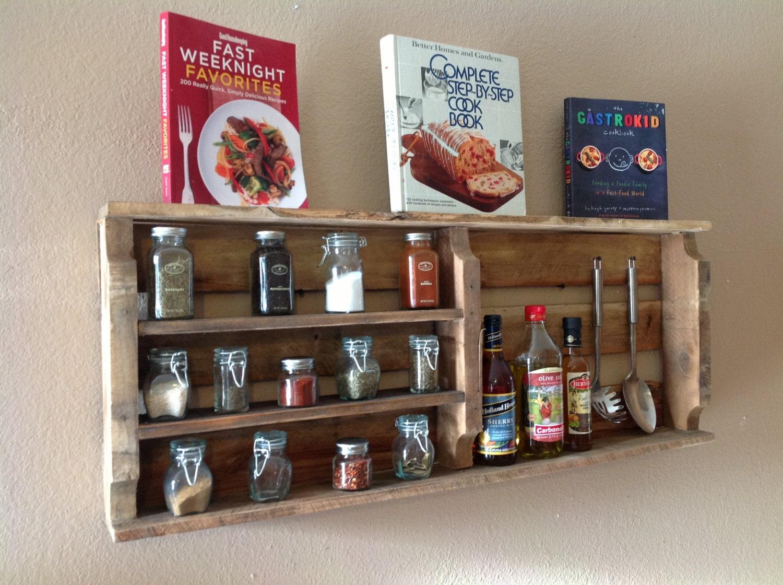 Reclaimed wood spice rack by delhutsondesigns on etsy