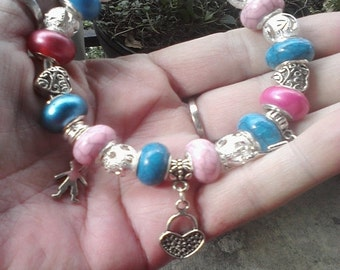 I Love my Children, My little Angels, Euro style bracelet