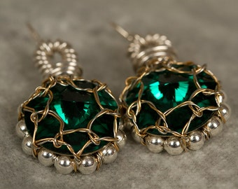 Emerald Crystal Earrings