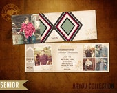 5x5 Tri-fold High School Senior Graduation Announcement - Bayou Senior