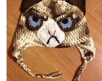 Grumpy Cat Amigurumi Pattern Free : Crochet Grumpy Cat Hat Images & Pictures - Becuo