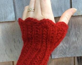Knitting Pattern-Twin Rib Warmer Set, knit neck warmer wristlets set pattern, knit fingerless gloves pattern, Eco Cloud, women, PDF pattern