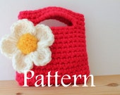 CROCHET PATTERN - Little Girl's Little Purse with Big flower  - Listing43