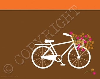 "BICYCLE---digital print 11"" x 8.5"""