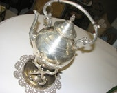 Wm Rogers Vintage Silverplated Tipping Teapot