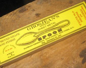 Civil War Grosjean's Patent Tin Spoon
