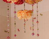 Your Custom Hand Beaded Flower Baby Mobile or Chandelier