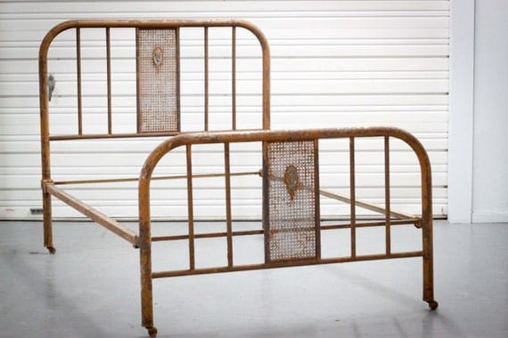 50 Kids Wrought Iron Bed Wrought Iron Queen Headboard: Items Similar To Custom Color Vintage Full Metal Bed With
