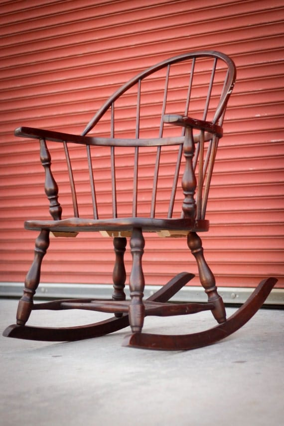 ... similar to Antique Colonial Low Back Windsor Rocking Chair on Etsy