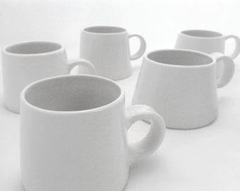 White Minimalistic Porcelain Cup