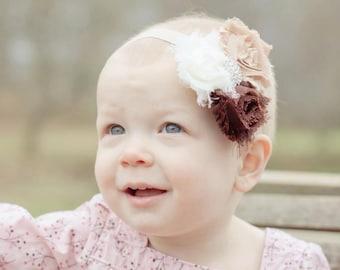 vintage heaband..baby girl headbands..shabby chic headband..vintage headband..baby girl headbands