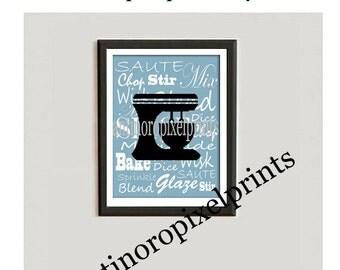 FREE SHIPPING Navy Damask Mixer Art Print Vintage Modern Inspired Art Print  - Navy White 8x11 Print (Unframed)